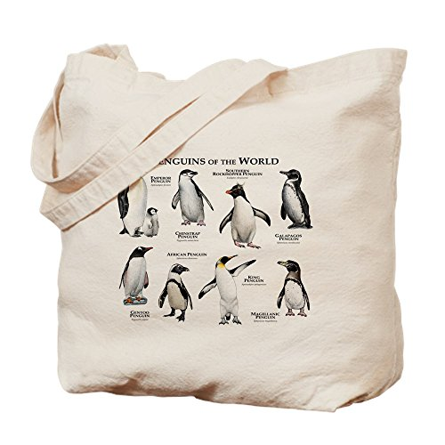 CafePress Penguins Of The World Natural Canvas Tote Bag, Cloth Shopping Bag