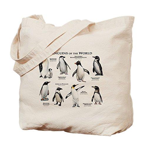 CafePress Penguins Of The World Natural Canvas Tote Bag, Cloth Shopping Bag
