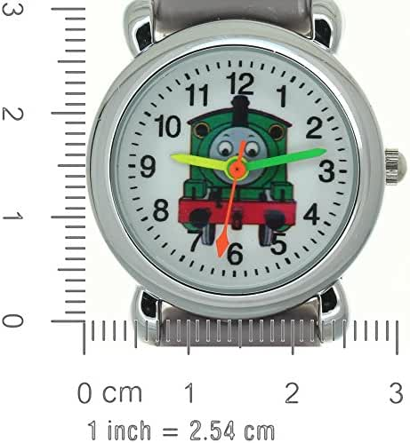TimerMall 3D Cartoon Car Pattern Rubber Strap Stainless Steel Case Analog Quartz Kids Watches