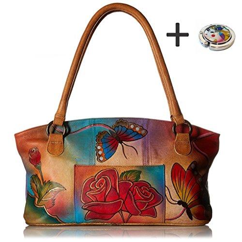 Anna Anuschka Tote Handbag Painted