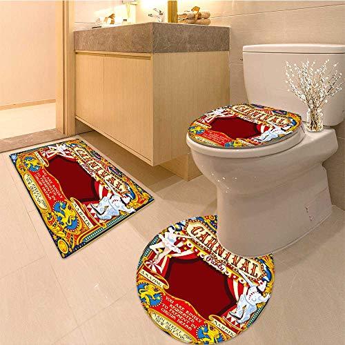 MikiDa Bathroom Household Rug circus tent people artist fa