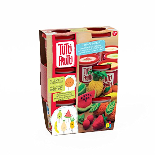 Tutti Frutti Scented Modeling Dough, Non-Toxic, Rehydratable, 6 Pack - Tropical Scents