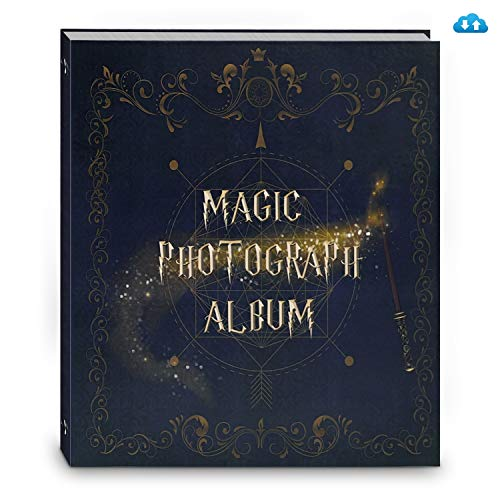 SWARK Magic Photo Album Scrapbook, Plus Cloud Storage for Pictures/Recording/Video, Charming Gift for Various Size Photos Wedding Anniversary Couples Family Friends Graduation Travel Memory