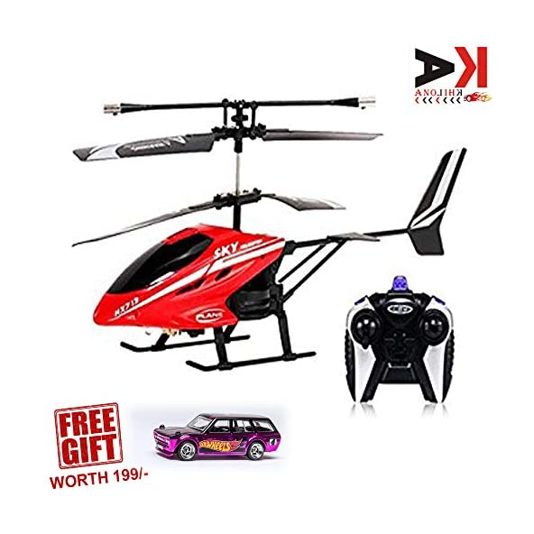 AK ANOLIHK® V-Max HX-713 Radio Remote Controlled Helicopter with Unbreakable Blades – (Multi Color )(Free Original hot Wheels car Worth 199/-)