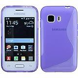 S-Line TPU SchutzHülle für Samsung Galaxy YOUNG 2 G130H Silikon Hülle in Lila @ Energmix