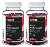 Amazon Brand - Solimo Adult Multivitamin, 300 Gummies, 75-Day Supply (Pack of 2)