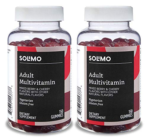 - Amazon Brand - Solimo Adult Multivitamin, 300 Gummies, 75-Day Supply (Pack of 2)