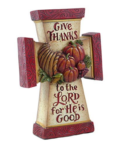 Give Thanks to The Lord Thanksgiving Cross Figurine