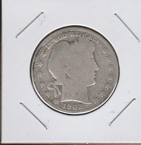 1902 Barber or Liberty Head (1892-1915) Half Dollar About Good