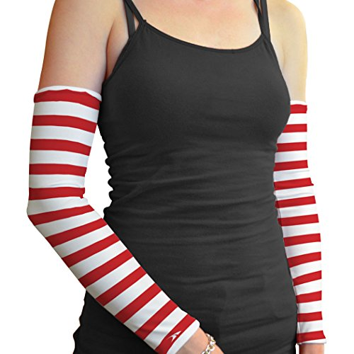 Gone For a Run Printed Arm Sleeves Candy Cane Stripes by Gone For a Run (Image #1)
