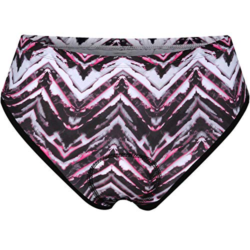 Womens Clothing Shorts Underwear - NOOYME Women Bike Underwear Gel 3D Padded Printed Design Bicycle Briefs Cycling Underwear Shorts (XX-Large, Mock-Sun)