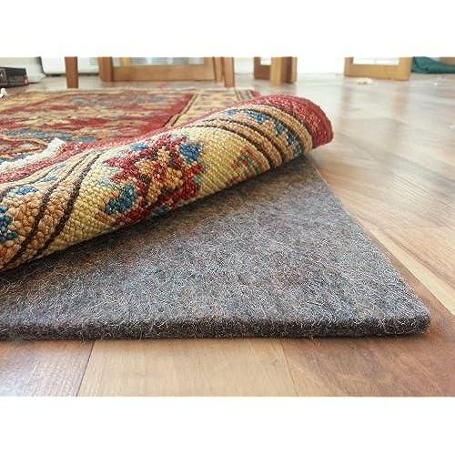 Rug Pad Central 8u0027 X 10u0027 100% Felt Rug Pad, Extra Thick  Cushion, Comfort  And Protection