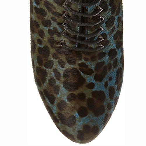 07203 Tacco TLJ KJJDE Alto Stampa Di Moda Di Donna Lacci Sexy Super Dance Leopardo Black Scamosciato Sexy 38 Pole Elegante X4x4pEYqw