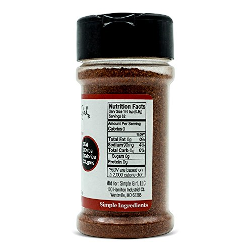 Simple Girl BBQ Seasoning - Sugar Free - Natural Herbs and Spices - Carb Free - Gluten Free - MSG Free - Diabetic Friendly - Compatible With Most Low Calorie Diets 2