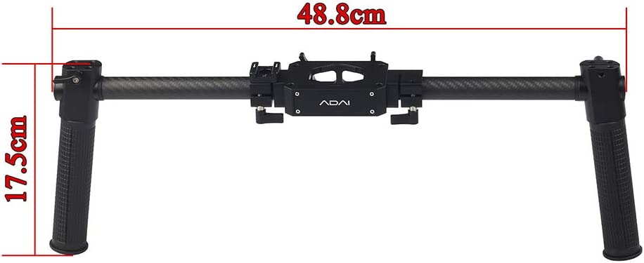 Docooler ADAI Dual Handle Grip Handheld Bracket Handlebar Kit with Cold Shoe Mount for ZHIYUN Crane Plus//Crane 2// Crane V2// FEIYU a1000// a2000// G6 Plus//MOZA Air Aircross 3-Axis Gimbal Stabilizer