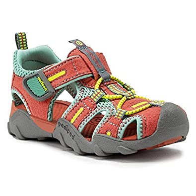 3336f0bc9b00 pediped Canyon Coral Sky Water Shoe (Toddler Little Kid) Sandal