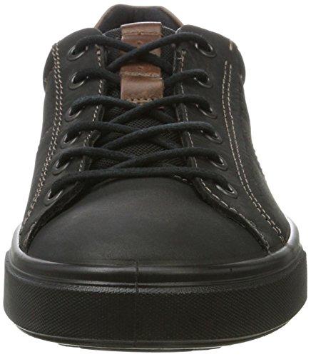 Ecco Heren Kyle Street Tie Fashion Sneaker Zwart
