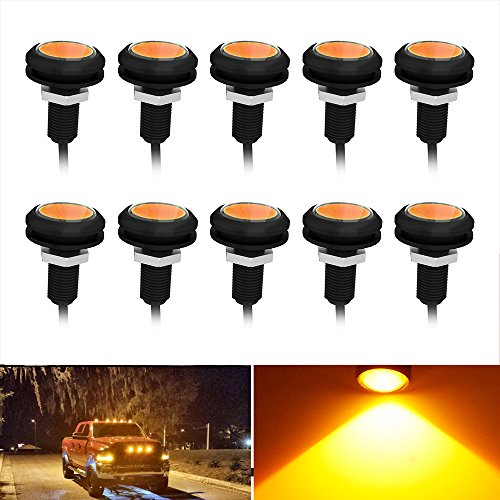 YINTATECH Eagle Eye Led Amber 23mm 9W LED Eagle Eye Bumper Lights Motorcycle Lights Daytime Running DRL Tail Backup Lights Clearance Marker - Led Eagle Light Eye