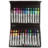 24 Pc Sharpie Marker Set with Velcro Nylon Storage Case