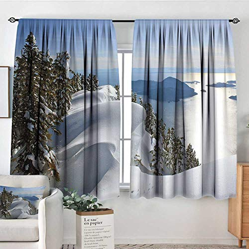 Elliot Dorothy Home Decoration Thermal Insulated Curtains Winter,Pacific Ocean Meets The Mountains Vancouver British Columbia Canada Wilderness Scenery,for Bedroom,Nursery,Living Room 63