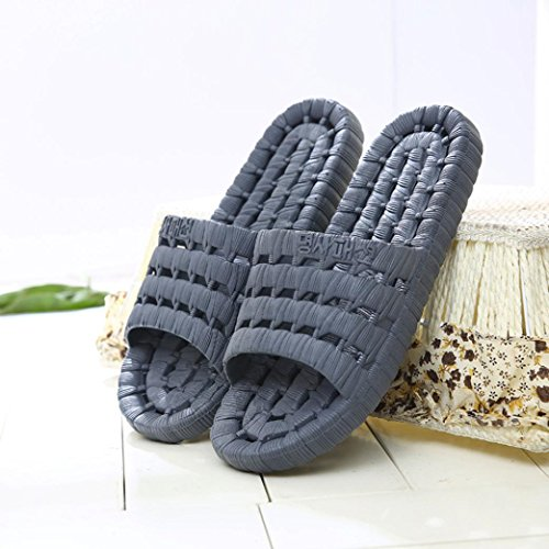 Inkach Mens Pantofole Da Bagno - Sandali Moda Estate Sandali Antiscivolo Scarpe Piatte Infradito Grigie