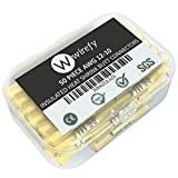 50 PCS Wirefy Heat Shrink Butt Connectors - Yellow 12-10 AWG Electrical Crimp Terminals - Insulated Waterproof Marine Grade Wire Terminals Kit - Underground Wire Splice Kit