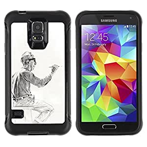 LASTONE PHONE CASE / Suave Silicona Caso Carcasa de Caucho Funda para Samsung Galaxy S5 SM-G900 / artist painter man painting drawing