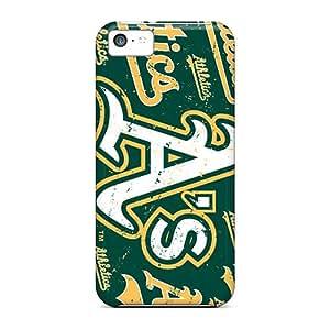 Shock Absorbent Hard Cell-phone Cases For Iphone 5c (EdQ14507SMyk) Custom Trendy Oakland Athletics Image
