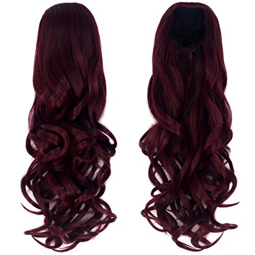 Synthetic Extension Ponytail Layered Burgundy product image