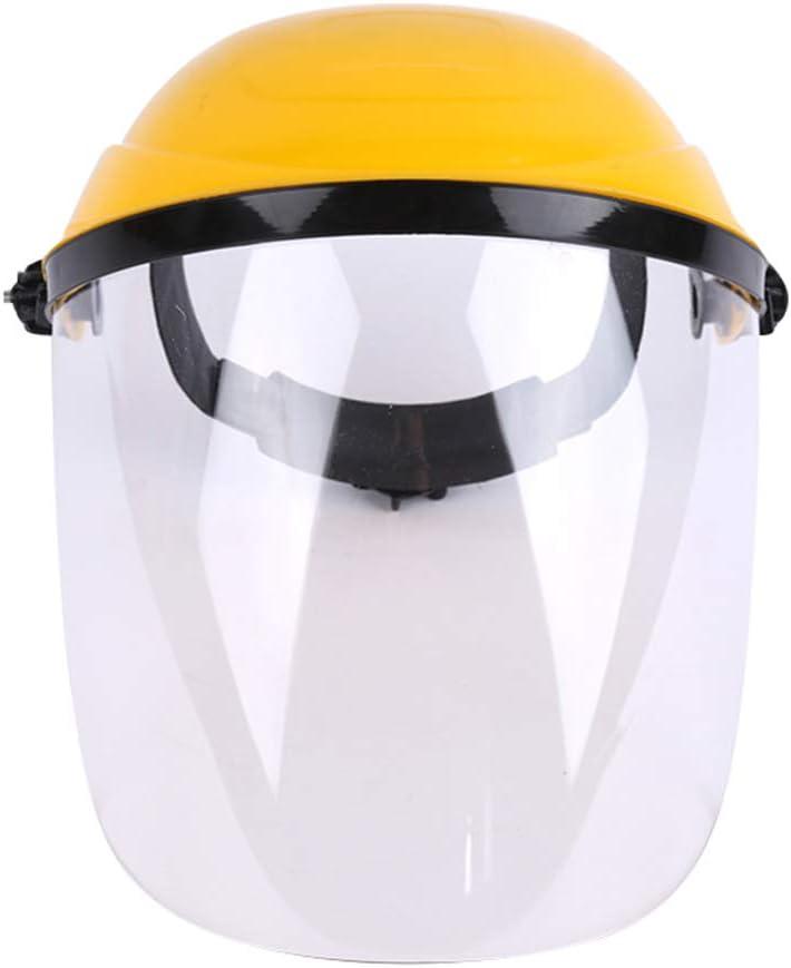 FloralLive Máscara de Soldadura del Casco Transparente Anti-Salpicaduras eléctrico de protección de la Cara Llena Soldador antichoque Pantalla