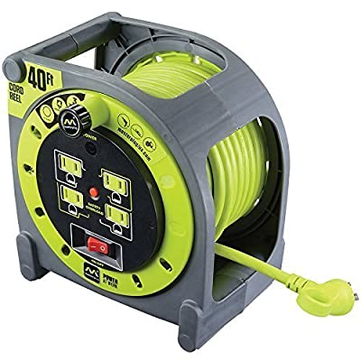 40ft Extension Cord Case Reel with 4 120V 10amp outlets