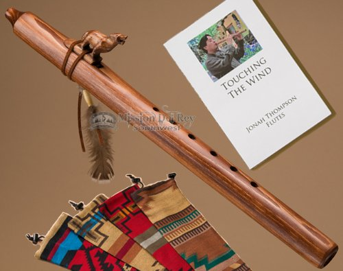 Native American Flute Pack -Walnut Wolf by Jonah Thompson Flutes