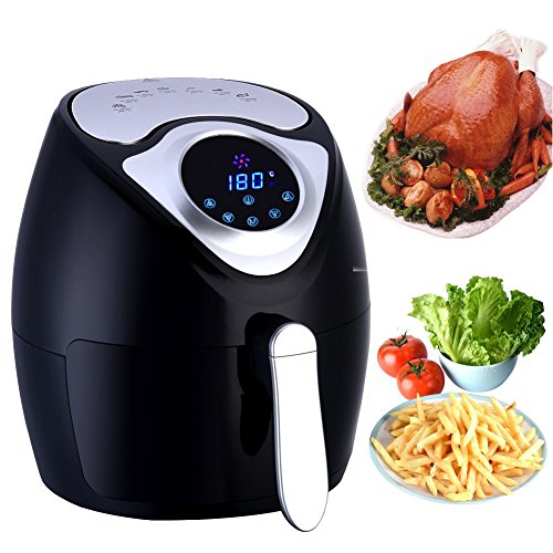 Air Fryer, Oil Less Air Fryers Digital Programmable with 7 Preset Cooking Program