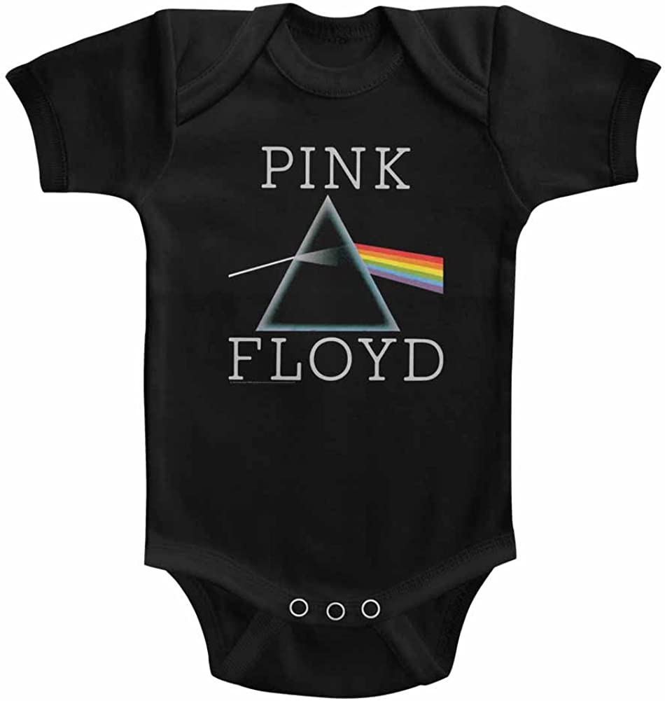 American Classics Pink Floyd Prism Black Infant Baby Creeper Snapsuit Romper