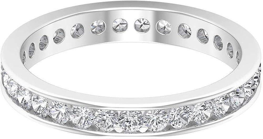 Anillo de oro de diamantes antiguos de 0,93 quilates, único anillo de eternidad de boda, certificado SGL, anillo de diamantes para hombre, 18K Oro