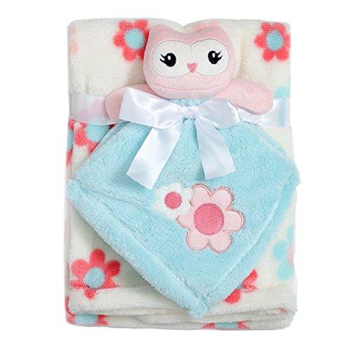 Baby Gear Infants 2 Piece Buddy Security Sleep Blanket on a Hanger (Fleece Security Blanket)