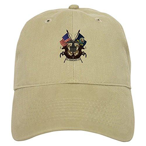 CafePress Navy Mustang Emblem Baseball Baseball Cap with Adjustable Closure, Unique Printed Baseball Hat