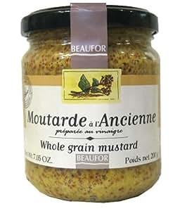 Beaufor, Mustard Whole Grain, 7 Ounce Jar