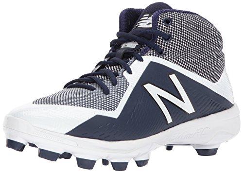 (New Balance Men's PM4040v4 Molded Baseball Shoe, Navy/White, 10.5 D US)