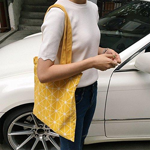 Shopping de Motifs à Filles Bandoulière Rangement Femmes à Portable à Géométriques Sac Provisions Chytaii Epaule jaune Sacs Sac ZPqAtz