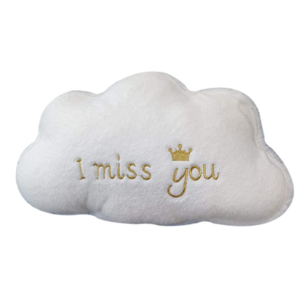 Lihan Almohada Instagram Forma de Nube Carta Nursery Cojines ...