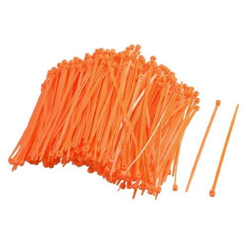 DealMux 200 Pcs Orange Adjustable Self-Locking Nylon Cable Ties 2.5 x 100mm DLM-B009EPKI7W