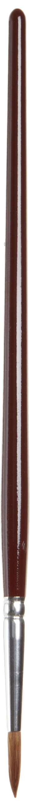 Tanis 00334 Red Sable Marking Brush, #4 Size, 1/8'' Diameter x 1/2'' Trim, 7-1/2'' Overall Length (Pack of 12)