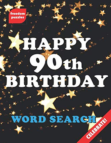 90th Birthday Word Search Large Print Puzzle Book