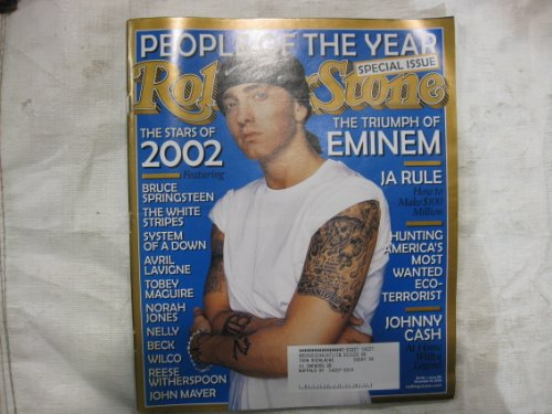 ROLLING STONE December 12, 2002 Eminem, Ja Rule, Johnny Cash - Johnny Cash Rolling Stone