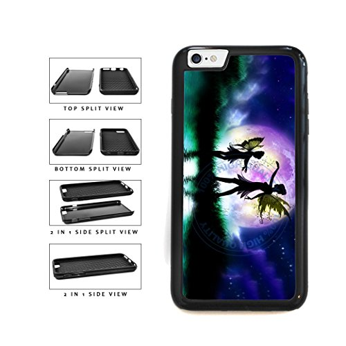 BleuReign(TM) Fairies Dancing In The Sky 2-Piece Dual Layer Phone Case Back Cover For Apple iPhone 6 Plus and iPhone 6s Plus (5.5 Inches Screen)
