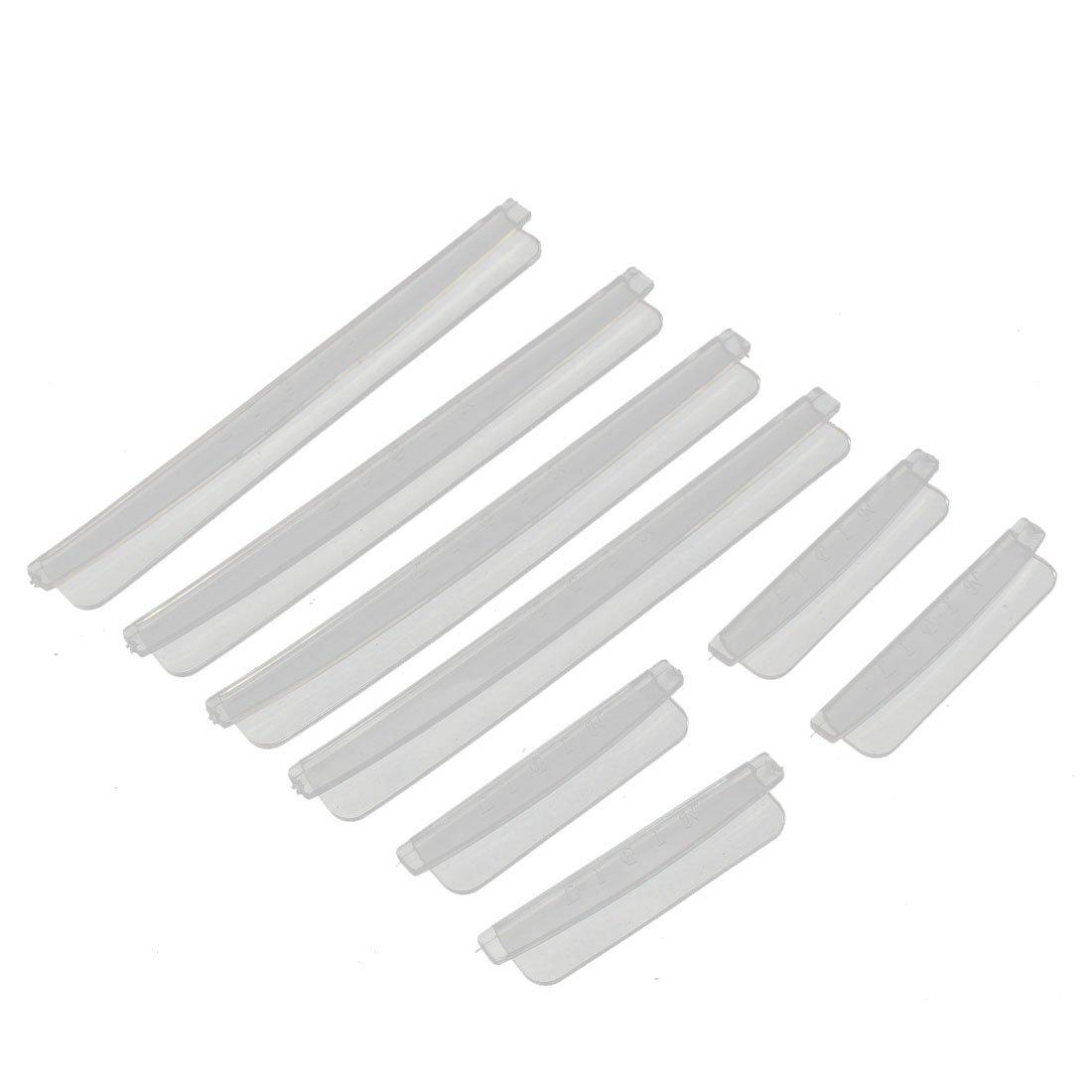 Sourcingmap Plastique Auto Bord De La Portiè re Grattement Bande Protecteur Gardes 8 en 1 Transparent a16012200ux0126