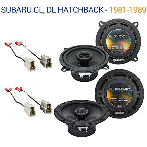 Subaru GL, DL Hatchback 1981-1989 Factory Speaker Upgrade Harmony R5 R65 - Hatchback Gl Subaru
