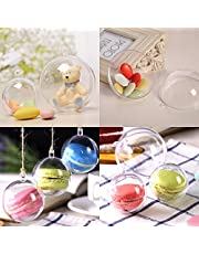 20X 10cm Diameter Zogin Clear Transparent Ball Christmas Tree Ornaments DIY Fillable Ball Baubles for Kids