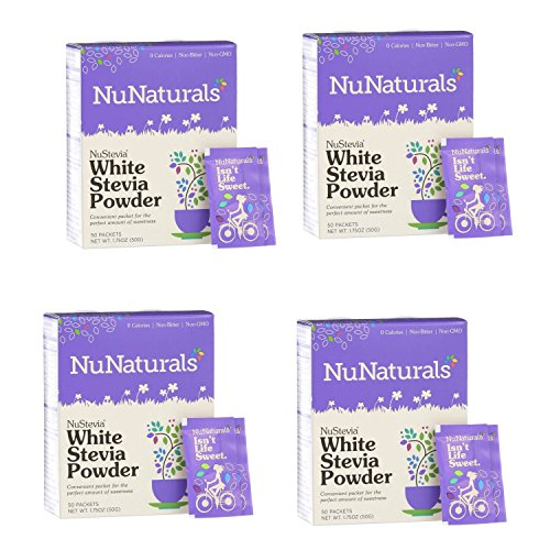 (NuNaturals Nustevia White Stevia Powder, 100 Count (4-Pack))